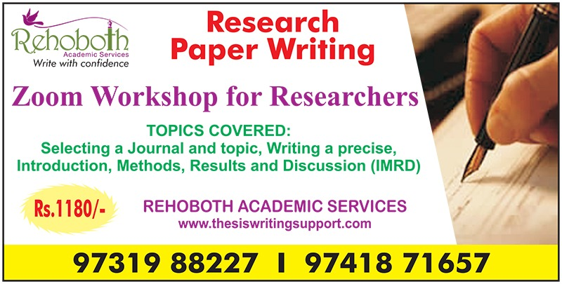Research Paper Writing Workshop - PhD Thesis Writing Support   Bangalore